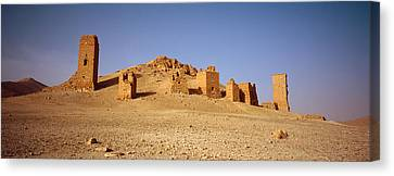 Ancient Tombs On A Landscape, Palmyra Canvas Print by Panoramic Images