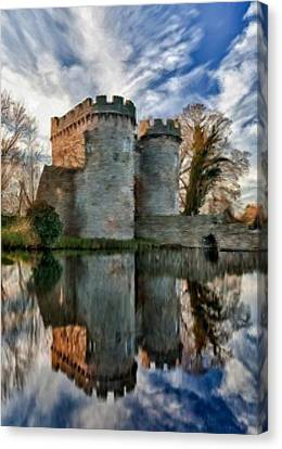 Ancient Whittington Castle In Shropshire England Canvas Print