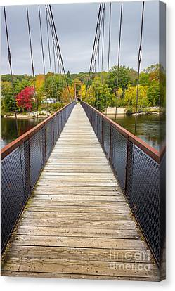 Androscoggin Swinging Bridge Canvas Print