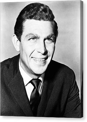 Andy Griffith In The Andy Griffith Show  Canvas Print by Silver Screen