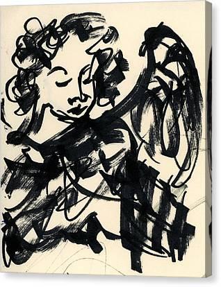 Angel Sketch Canvas Print by Rachel Scott