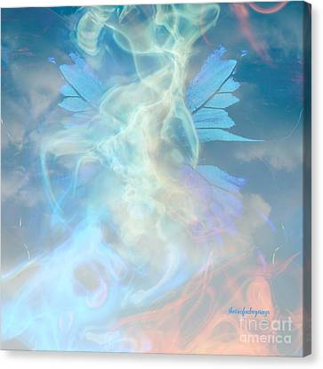 Angel Wings And Heaven  Canvas Print by Sherri  Of Palm Springs