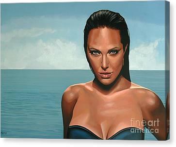 Tomb Canvas Print - Angelina Jolie by Paul Meijering