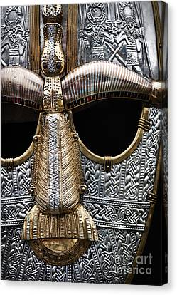 Anglo Saxon Helmet Detail Canvas Print by Tim Gainey