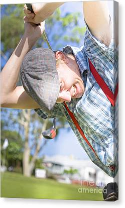 Angry Golfer Canvas Print by Jorgo Photography - Wall Art Gallery