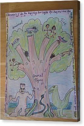 Animal Tree Animal Time Canvas Print