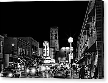 Ann Arbor Nights Canvas Print by Pat Cook