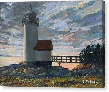 Annisquam Light Canvas Print by Eileen Patten Oliver