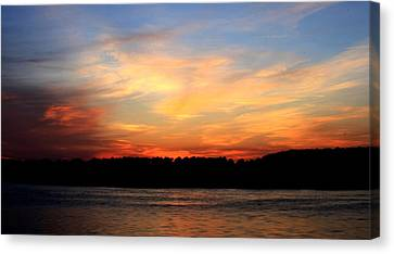 Another Great Day Ends Canvas Print by Charles Shedd