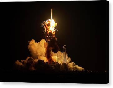 Antares Rocket Explosion Canvas Print