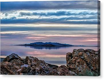 Antelope Island Sunset - 7 Canvas Print by Ely Arsha