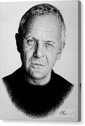 Anthony Hopkins Canvas Print by Andrew Read