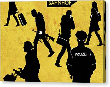 Anti-terrorism Police Canvas Print