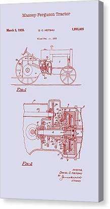 Antique Massey-ferguson Tractor Patent 1935 Canvas Print