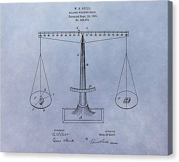 Antique Scale Patent Canvas Print by Dan Sproul