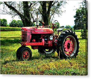 Antique Tractor  Canvas Print by Julie Dant