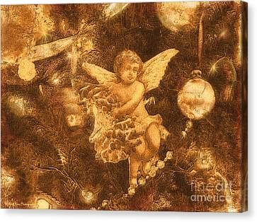 Antiqued Angel Gold Canvas Print by Roxy Riou