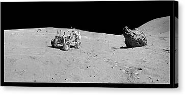 Apollo 16 Lunar Rover Canvas Print by Nasa/detlev Van Ravenswaay