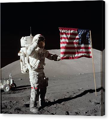 Apollo 17 Mission Canvas Print by Celestial Images