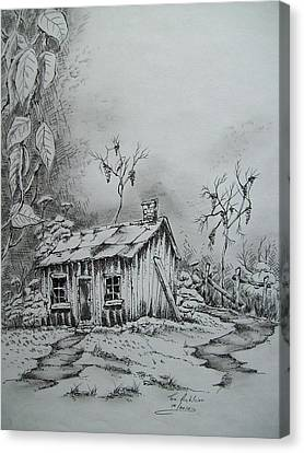 Old Shed Canvas Print - Appalachian Old Shed by Tom Rechsteiner
