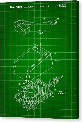 Apple Mouse Patent 1984 Canvas Print