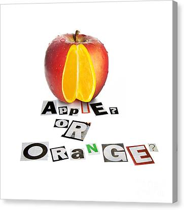 Apple Or Orange Canvas Print by Jorgo Photography - Wall Art Gallery