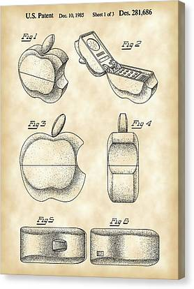 Apple Phone Patent 1985 - Vintage Canvas Print by Stephen Younts