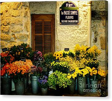 April In Paris Canvas Print by Michael Helfen