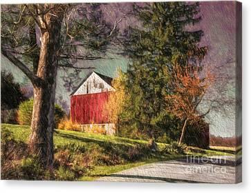 April Showers Canvas Print by Lois Bryan