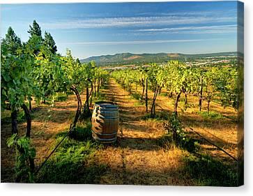 Arbor Crest Wine Cellars In Spokane Canvas Print by Richard Duval