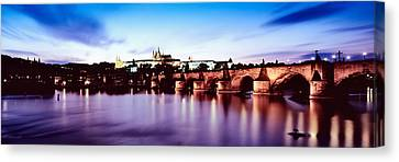 Arch Bridge Across A River Canvas Print