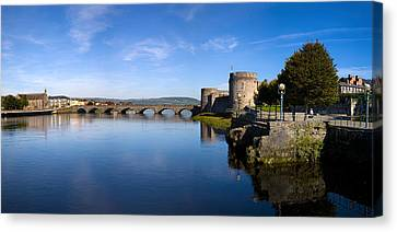 Arch Bridge Across A River, Thomond Canvas Print by Panoramic Images