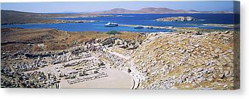 Delos Canvas Print - Archaeological Site On An Island by Panoramic Images