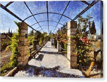 Benches Canvas Print - Archway II by George Atsametakis