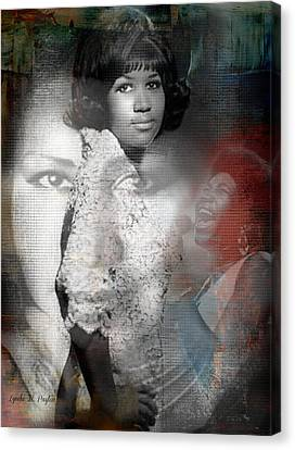 Aretha Franklin Canvas Print by Lynda Payton