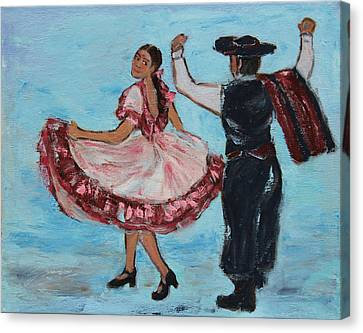 Argentinian Folk Dance Canvas Print by Xueling Zou