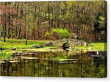 Dogwood Lake Canvas Print - Arkansas Tranquility by Benjamin Yeager