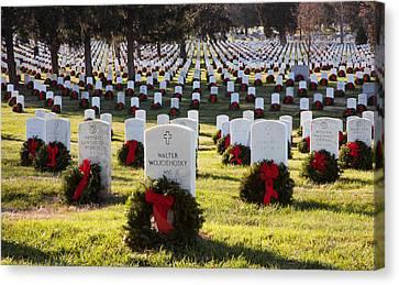 Arlington Cemetery Wreaths Canvas Print