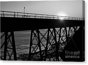 Arroyo Hondo Trestle Train Bridge Near Gaviota And Santa Barbara Canvas Print by ELITE IMAGE photography By Chad McDermott