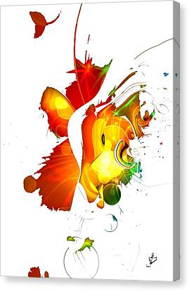 Art-abstract By Nico Bielow Canvas Print