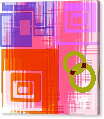 Art Deco Style Digital Art Canvas Print