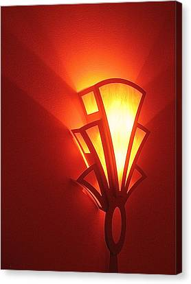 Canvas Print featuring the photograph Art Deco Theater Light by David Lee Guss