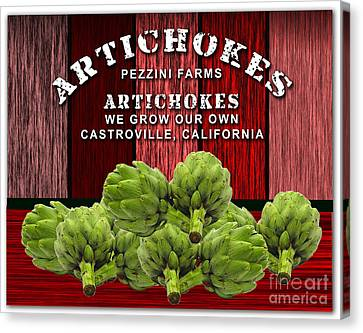 Artichokes Farm Canvas Print by Marvin Blaine