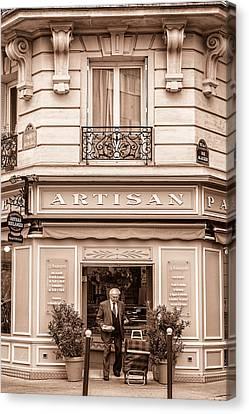 Boulangerie Canvas Print - Artisan Bakery In Paris by Georgia Fowler