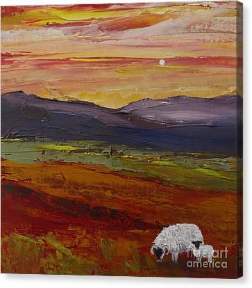 As Evening Falls Ll Canvas Print