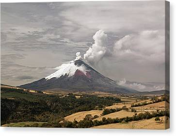 Ash Plume Rising From Cotopaxi Volcano Canvas Print