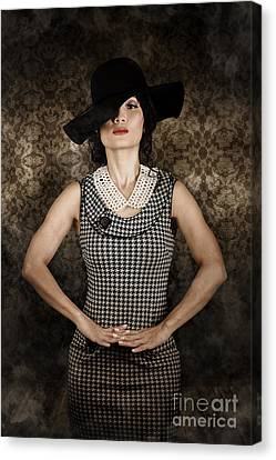 Asian Model Wearing Vintage Fashion Canvas Print by Jorgo Photography - Wall Art Gallery
