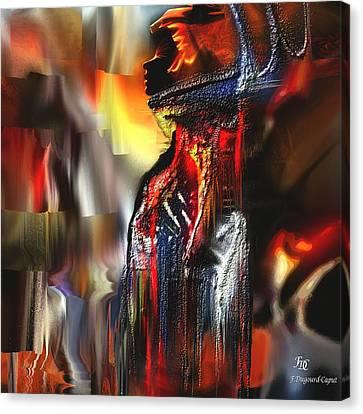 Astral  Canvas Print by Francoise Dugourd-Caput