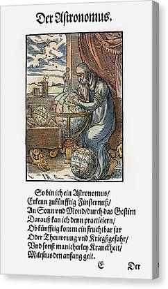 Astronomer, 1568 Canvas Print by Granger