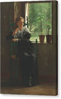 At The Window Canvas Print by Winslow Homer